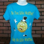 Do You Like Waffles? Dancing Waffle Blue T-Shirt